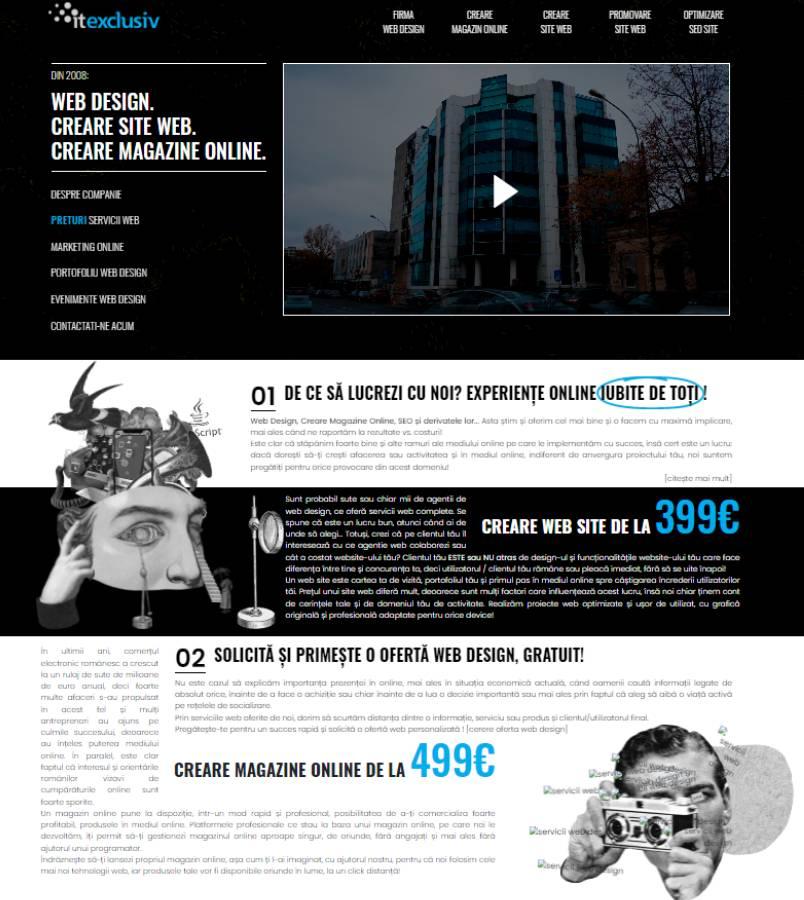 Din 2008 web design creare site web creare magazin online for Creare design